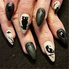 Halloween nails are always an enjoyable approach to scare and delight your pals. Halloween ideal r from the box and stun with epic nail art. Nail Bat, Halloween Nail Designs, Halloween Nail Art, Spooky Halloween, Halloween Party, Halloween Season, Halloween 2018, Halloween Ideas, Cute Nails