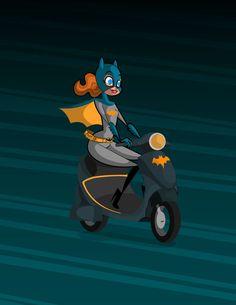 Batgirl by kungfumonkey.