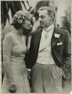 Dolores Costello & John Barrymore in 1928. #inspiration #bridal