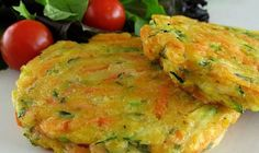 The best recipes: Paula Deen's Veggie Pancakes Summer Vegetarian Recipes, Vegetable Recipes, Summer Recipes, Healthy Recipes, Vegetarian Meals, Veggie Meals, Veggie Dishes, Vegetable Pancakes, Chili Mac