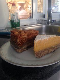 Vegan cakes apple/cinnamon and mango mousse