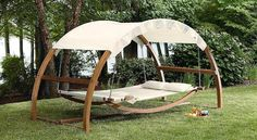 Outdoor Patio Arch Swing  (I REALLY want one of these!)