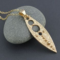 Modern dagger necklace long spear pendant in by KathrynDesignsArt, $75.00