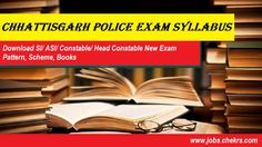 Chhattisgarh Police Syllabus 2017-18 pdf Constable, SI Exam Pattern