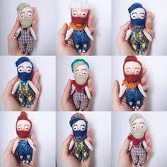 """353 Likes, 22 Comments - Charismatik MUKLA DOLLS (@mukla_doll) on Instagram: """"Pocket Mukla man 👨🏽👨🏼👨🏻💗#mukladolls #dollmaker #ooakdoll #handmadedolls #handmadetoys"""""""