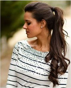 40 Party-Ready Holiday Hairstyles ... the pony tail is a classic - uphold it with www.TinaRianaHair.com