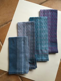 Delightful Towels in 8/2 Cottolin. Huck Lace and Plain Weave.