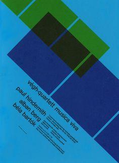 Musica Viva concert poster, Josef Müller-Brockmann (1958)