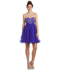 Blondie Nites Bead and Swirl Party Dress #Dillards