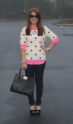 Sequin Polka-Dots and pink