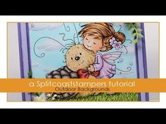 Outdoor Backgrounds Tutorial - Splitcoaststampers-copic marker coloring of sky,clouds and grass.