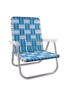 Vintage Webbed Tubular Aluminum Rocker Rocking Lawn Chair