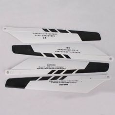 4Pcs 9101-4 Main Rotor Blades For 9101 Helicopter Black White by Crazy Cart. $6.66. Features: 1. Super balance with stable performance 2. Lightweight, durable and practical 3. With high quality, it is easy to install  Specifications: 1. Model: 9101-4 2. Length of Long Side: 9.65 in/ 24.5 cm 3. Length of Short Side: 7.68 in/19.5 cm 4. Width: 1.57 in/ 4cm 5. Number: 4Pcs 6. Material: Plastic 7. Color: Black White 8. Weight: 69 g/ 2.43oz 9. Suitable for: Double Horse 9101 Helic...