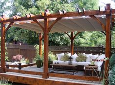 pergola with sunbrella fabric - Google Search