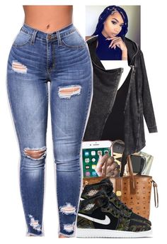 """""""Untitled #2359"""" by txoni ❤ liked on Polyvore featuring H&M, Apple, MCM and NIKE"""