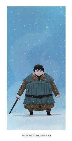 Samwell Tarly. I've come to take the black by Fuacka.deviantart.com on @deviantART