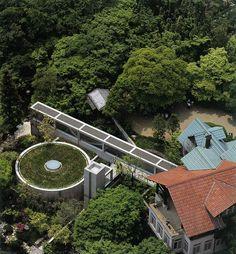 Oyamazaki (Asahi Beer) Villa Museum), Kyoto Japan (1991-95) | Tadao Ando Japanese Architecture, Interior Architecture, Tadao Ando, Kyoto Japan, Modern Buildings, Villa, Beer, Earth, Shelter