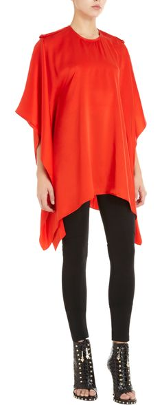 Givenchy Poncho Blouse
