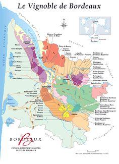 Carte du vin de Bordeaux