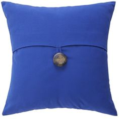 Cabana Flap & Button Pillow - Cobalt | Pier 1 Imports
