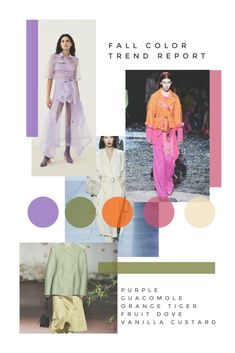 Style Edit's Fall Color Trend report is here! We know fall fashion is usually pretty predictable but not this season; if you are a lover of color, you will not be disappointed! Mode Portfolio Layout, Fashion Portfolio Layout, Portfolio Design, Fashion Layouts, Fashion Collage, Art Graphique, Layout Design, Ios Design, Dashboard Design