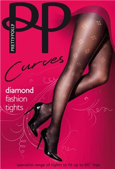 Pretty Polly Curves is speciaal ontworpen voor dames met een maatje meer. 60 Denier Diamond Fashion opaque panty. Maten 46 t/m 60.