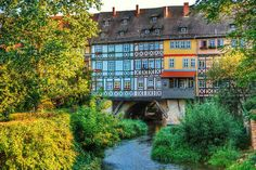 Erfurt in Germany Hoi An, Cool Places To Visit, Places To Go, Ends Of The Earth, Backpacking Europe, World Cities, Germany Travel, Small Towns, Gera