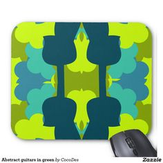 A colorful #mousepad for #guitarsists and #music #fans #zazzle