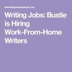 creative writing jobs home