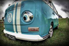 VW bus kombi with eyes