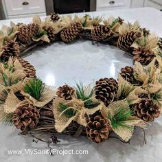 Pine Cone Christmas Tree, Red And Gold Christmas Tree, Burlap Christmas, Natural Christmas, Christmas Wreaths, Christmas Crafts, Xmas, Country Christmas, Christmas Christmas