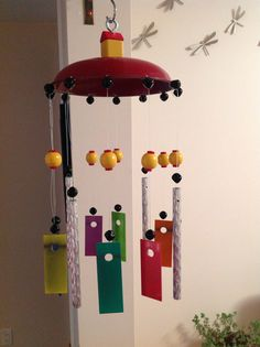 Upcycled xylophone wind chime