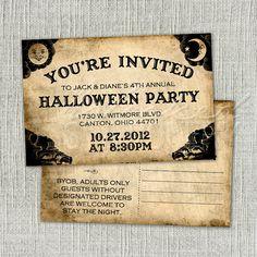 Ouija Board Halloween Invitation Postcard  by WickedStationery, $0.75