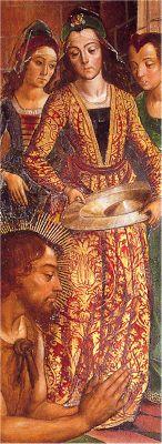 1485. The beheading of St. John the Baptist, Pedro Berruguete, Altarpiece of St. John the Baptist, Church of Santa Maria de Campo, Burgos (detail) Spanish