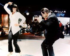 Uma Thurman : Mia Wallace John Travolta : Vincent Vega PULP FICTION, Quentin TARANTINO, 1994
