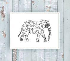 'ELEPHANT' Lass dich in deinem Zuhause inspirieren! Dieser Kunstdruck wird in DIN A4 auf mattem 280 g/m² Offwhite Papier gedruckt. Das Motiv ist ebenfalls in DIN A3 für 14,90 €...