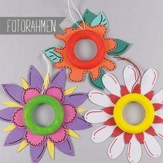 Fotorahmen Blumen Moosgummi