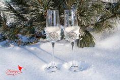 Vintage Wedding Glasses, Wedding Wine Glasses Engraved Champagne Flutes, Toasting Flutes, Toasting Glasses, Pearl Toasting Glasses, 2 pcs. by MyHappyWedding on Etsy