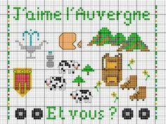 France - country - l'auvergne - point de croix - cross stitch - Blog : http://broderiemimie44.canalblog.com/