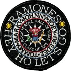 Ramones Hey Ho lets Go Licensed Embroidered Iron by YourPatchStore