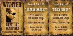 """Broken Hearts"" et ""Lucky River"", tournois de PokerGratuit.fr"
