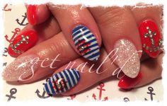 Nautical nails!!