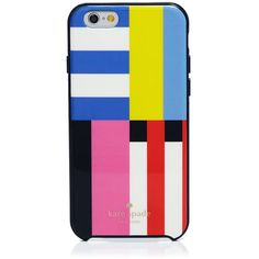 kate spade new york Resin Flag Stripe iPhone 6/6s Case ($30) ❤ liked on Polyvore featuring accessories, tech accessories, multi and kate spade