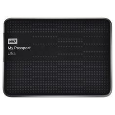 WD My Passport Ultra 1TB Portable External Hard Drive (Black) WD