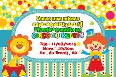Convite digital personalizado Circo 011