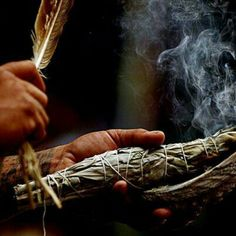 sagebrush Smudging - western Native American Indian