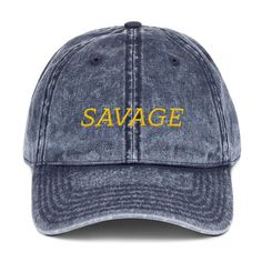 e6b4994f606 Savage Embroidered Dad Hat Funny Casual Unstructured Tumblr Caps Hats With  Quote Saying Trendy Cap Maroon Black Denim