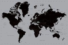 Mapa świata (Contemporary) - plakat | Sklep ePlakaty.pl