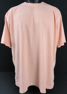 Tommy Bahama Mens XL T-Shirt Pima Modal Blend Peach/Soft Orange SS Crewneck Exc #TommyBahama #BasicTee