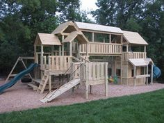 Custom Built Playsets by Kids Korner Playsets This is not our playset, but they did build us a great playset